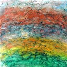 Hues, painting by Shobha Majumdar