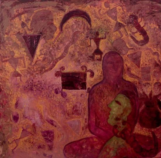 Folk Legacy, painting by Milan Sharma