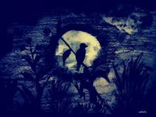 Darkest Night, painting by Nikhil Pawar