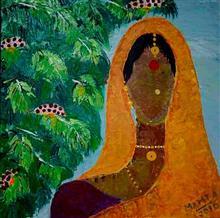 Woman Farmer, Painting by Mamta Chitnis Sen