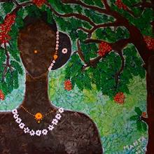 Woman from Chhattisgarh, Painting by Mamta Chitnis Sen