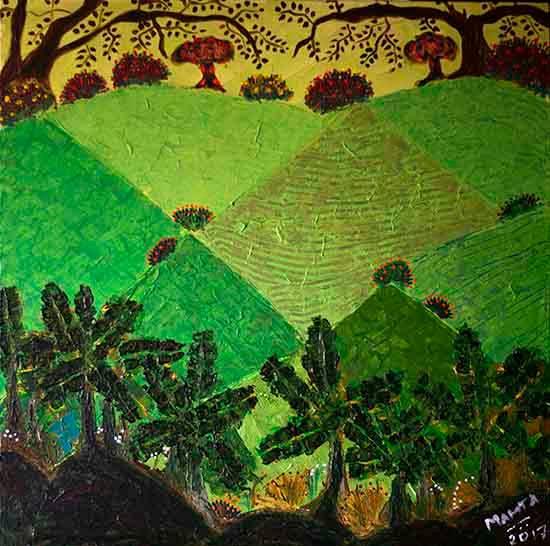 Konkan, Painting by Mamata Sen