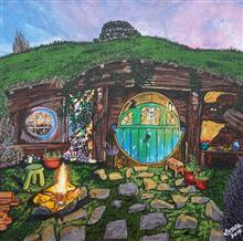Painting by Sonal Poghat - Hobbit Hole