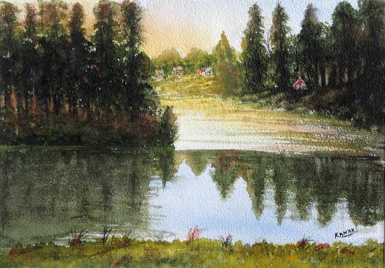 Beauty of Kodaikanal, Painting by Emerging Artist Dr Kanak Sharma