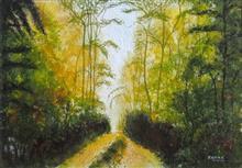 Green tones, Painting by Dr Kanak Sharma