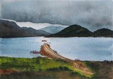 Painting by Dr Kanak Sharma - Mud Jetty