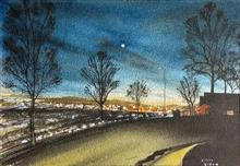Painting by Dr Kanak Sharma - Late evening in Harrisburg