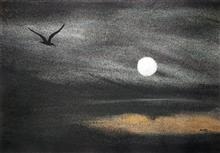Aiming for moon, Painting by Dr Kanak Sharma