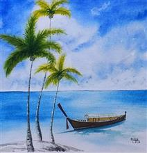 Painting by Dr Kanak Sharma - Shades of Azure