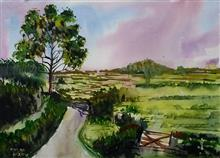 Painting by Dr Kanak Sharma - After Rains