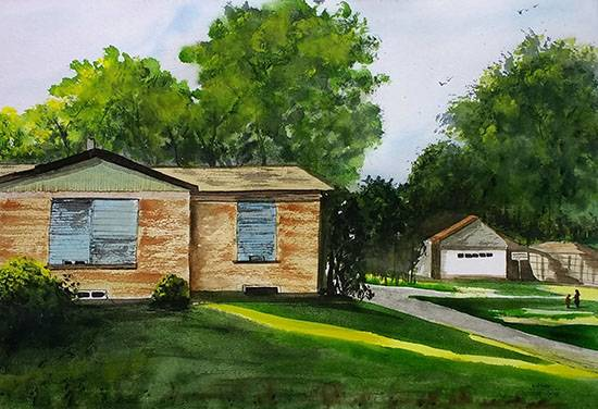 Dallas Home, Painting by Dr Kanak Sharma