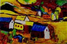Sunny habitat, painting by Mukta Kamplikar