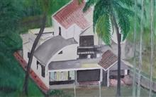 Holiday Home in Konkan, painting by Bhalchandra Bapat