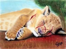 Scar - 3, painting by Varjavan Dastoor