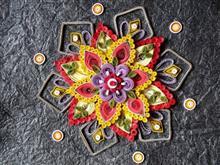 Flower with Mandala, painting by Prachi Gorwadkar