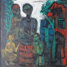 Paintings by G A Dandekar - Village Family