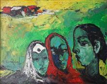 Village Ladies, painting by G. A. Dandekar