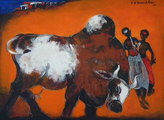 Indiaart - Bull Artwork