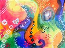 Abstract - 2, Painting by Amrita Kaur