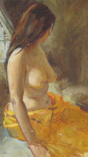 Semi Nude, Painting by Old Master Artist John Fernandes