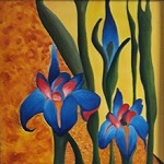 Paintings by Shalini Goyal - Bold Blue Floral