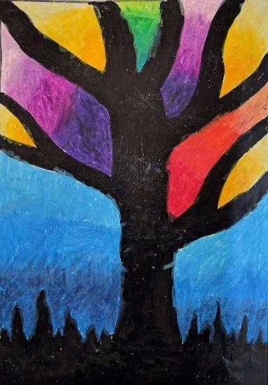 painting by Paarth Biyani - Tree
