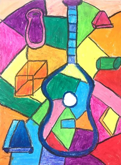 Guitar (Pablo Picasso), painting by Sharanya Das