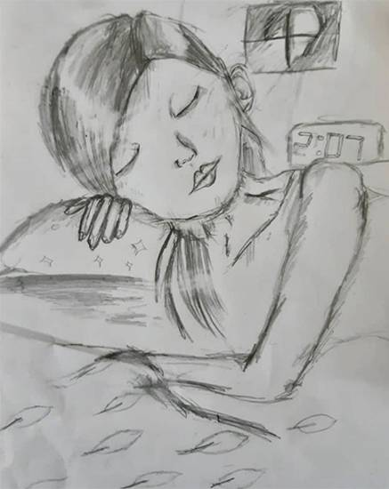 Painting  by Sreebhadra Suraj - Sleeping Girl