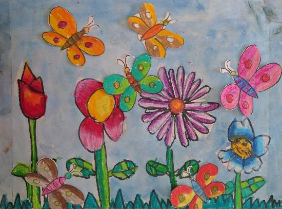 Flowers, painting by Utkkarsh Darshan Mehta