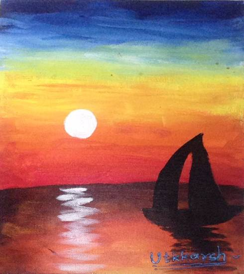 painting by Utkkarsh Darshan Mehta - Seasacape
