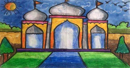Taj Mahal, painting by Utkkarsh Darshan Mehta
