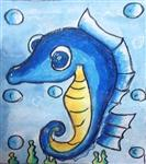 painting by Utkkarsh Darshan Mehta - Sea Horse