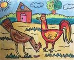 painting by Utkkarsh Darshan Mehta - Rooster