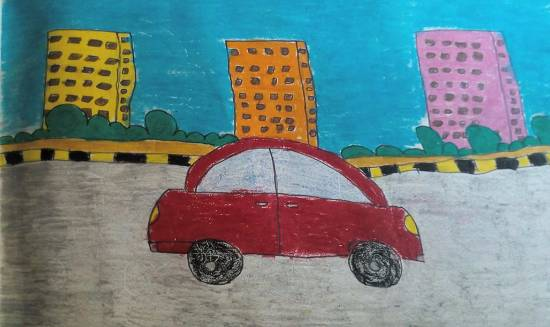painting by Kanishka Kiran Tambe - Road