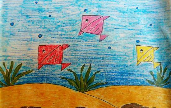 Aquarium, painting by Kanishka Kiran Tambe