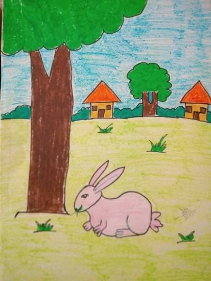 Painting  by Kanishka Kiran Tambe - Rabbit