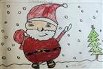 painting by Kanishka Kiran Tambe - Santaclause