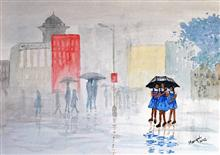 Painting by Mangal Gogte - Friends, Mumbai
