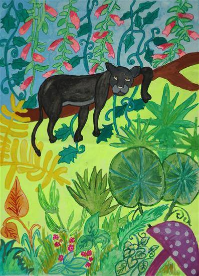 Painting  by Sharlina Shete - The Jungle Mystery