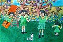 Painting  by Sharlina Shete - School Recess