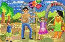 Painting  by Aarushi Rakesh - Balloon seller