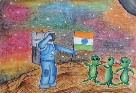 Exploring Possibilities, painting by Riya Mahesh Kadam