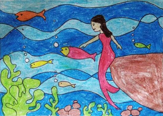Painting  by Chinmayee Anand Naravane - Under the sea