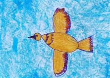 Painting  by Chinmayee Anand Naravane - Flying bird