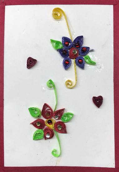 painting by Shambhawi Vermaa - Card - Quilling