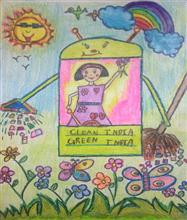 Painting  by Shambhawi Vermaa - Clean India, Green India - Swachh Bharat