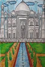Painting  by Shambhawi Vermaa - The Taj Mahal