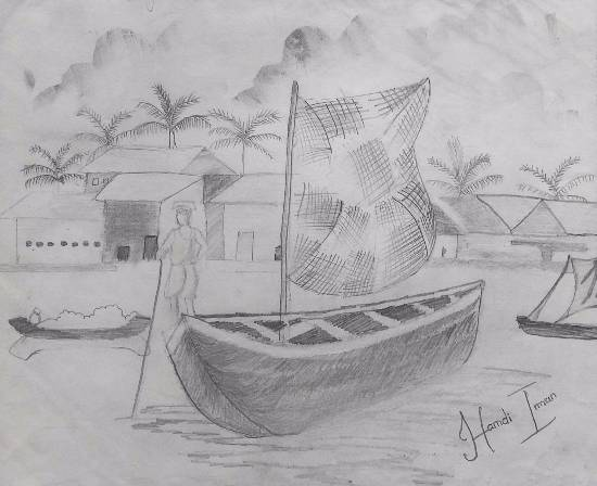 Painting  by Hamdi Imran - Boats