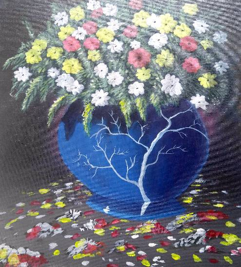 Painting  by Hamdi Imran - Flower pot