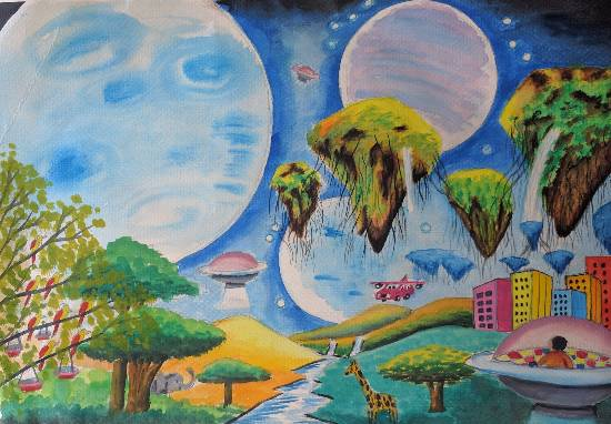 My Dreamland, painting by Meet Chawla